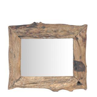 Ilan Wooden Mirror 60x60cm Natural
