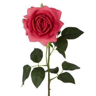 Belle Real Touch Rose Stem Dark Pink