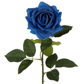 Belle Real Touch Rose Stem Electric Blue