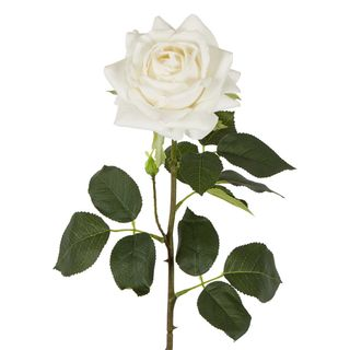 Belle Real Touch Rose Stem White