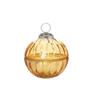 Ball Candle Lidded Small Gold