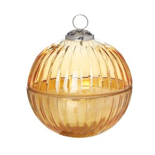 Ball Candle Lidded Large Gold