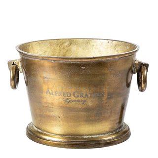 Oval Ice Bucket  Brass