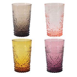 Glass Tumbler Set of 4 Moroccan Sunset 12oz
