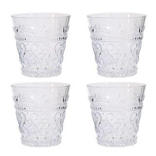 Glass Tumbler Set of 4 Clear 8oz