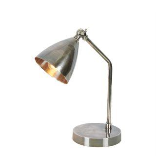 Hastings Desk Lamp Antique Silver