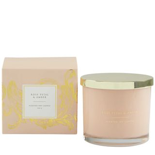 PRE-ORDER Rose Petal & Amber Soy Candle 250g