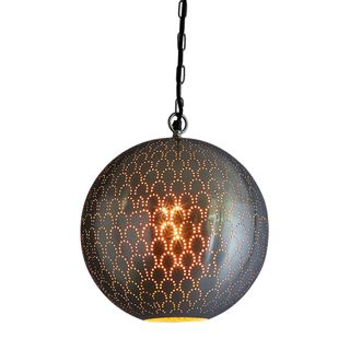 Mamba Perforated Round Pendant Light Nickel