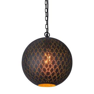 Mamba Perforated Round Pendant Light Black