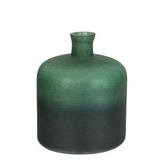 Juniper Glass Bottle Vase Green