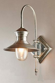St James Outdoor Wall Light Antique Silver