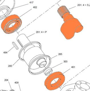 24748B - HMB030 - S Shaft With Bearings