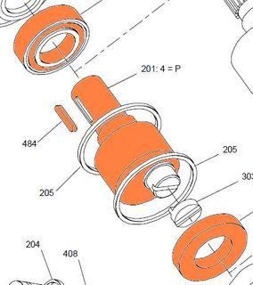 24677B HMB030 - P Shaft With Bearings