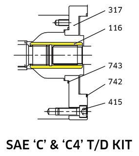K3VL112/140 TD Coupling SAE C
