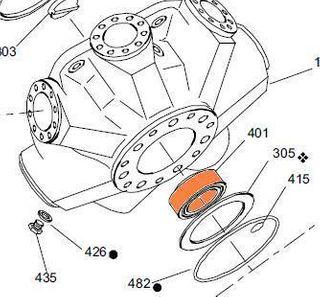 67496 HMHD 270 - Rear Bearing