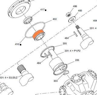67495 HMHDB 270/325 - Front Bearing