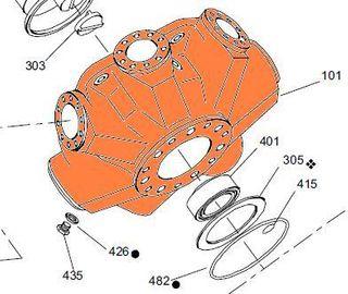 101-009 HMB060/080 - Motor Case