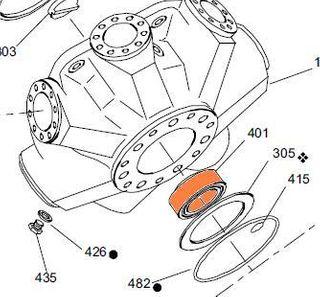 65381 HMB030 - Taper Roller Bearing - Rear