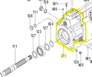 K3VL112/140 - Pump Casing SAE D for Power Control