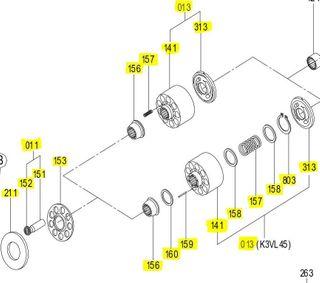 K3VL112 - Rotary Kit LH Series B