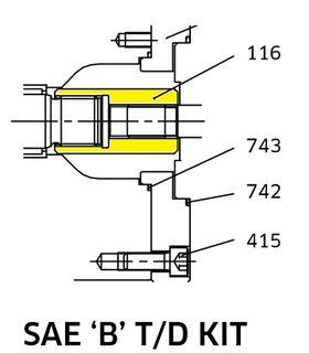 K3VL112/140 TD Coupling SAE B