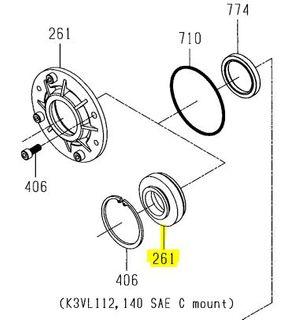 K3VL112/140 - Shaft Seal Cover SAE C version