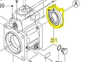 K3VL112/140 - Swash Plate Support LH