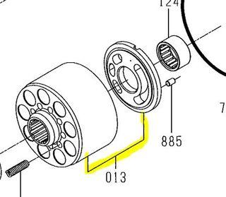 K3VL112 - Cylinder/Valve Plate Assembly RH Series B
