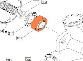 89664 HMB/C045-200 - Taper Roller Front/Rear Bearing