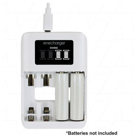 Enecharger 4 Cell Fast Charger AA/AAA Nimh USB