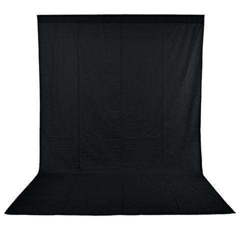 Xlite Muslin Black Background 3x6m Inc Bag