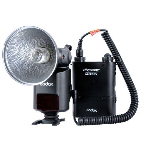 Godox AD360II-C TTL Canon Flash With PB960 Battery Black