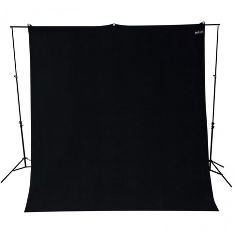 Westcott Black Background 2.75 x 3m Wrinkle Resistant