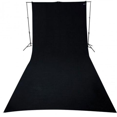 Westcott Black Background 2.75 x 6m Wrinkle Resistant