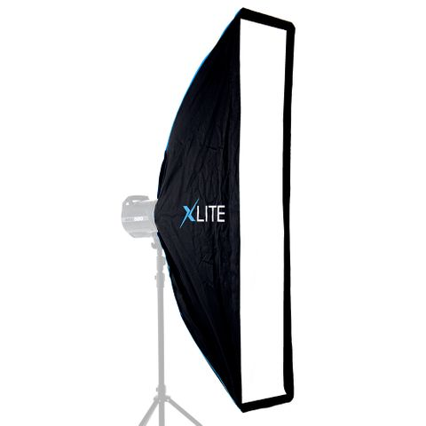 Xlite 25x100cm Pro Umbrella Strip Softbox + Grid & Mask For Elinchrom