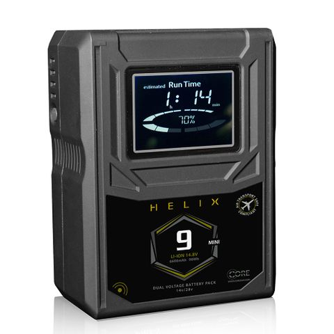 Core SWX Helix 9 Mini AB Mount Dual Voltage Battery
