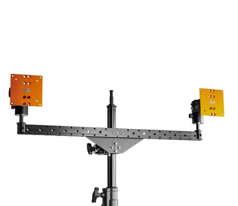 INOVATIV Dual Bar includes 2 Crossbar Baby Pin Plugs & 2 Pro Monitor Mounts