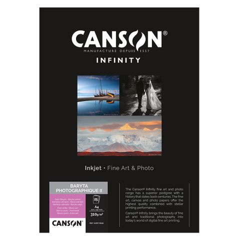Canson Infinity Baryta Photographique II 310gsm A4 x 25 Sheets