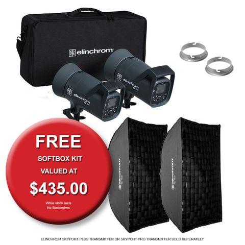 Elinchrom ELC 500/500 Softbox To Go Kit
