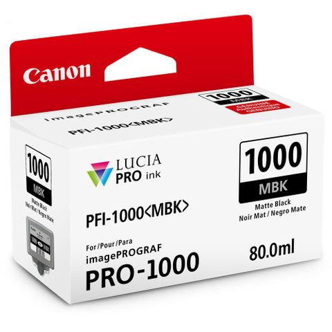 Canon PRO-1000 80ml Matte Black Ink PFI1000MBK