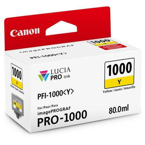 Canon PRO-1000 80ml Yellow Ink PFI1000Y