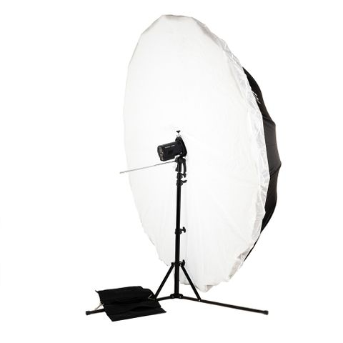 Godox AD300PRO Flash + 180cm B/W Umbrella + Compact Reversible 2.1m Stand