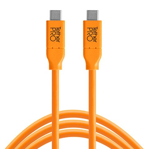 Tether Tools TetherPro USB-C to USB-C 4.6m Hi-Vis Orange