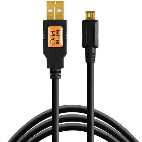 Tether Tools TetherPro USB 2 Male to Micro-B 5-Pin 4.6m Black