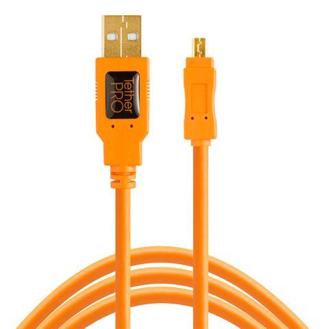 Tether Tools TetherPro USB 2 Male to Mini-B 8-Pin 30cm Hi-Vis Orange