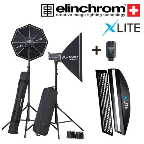 Elinchrom D-Lite RX4 Set With Xlite 30x140 Strip
