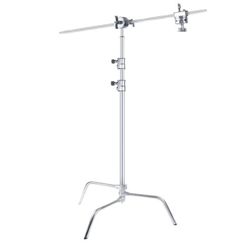 Xlite Turtle Base C Stand Silver With Arm & 2 Grip Heads