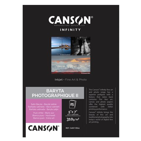 Canson Infinity Baryta Photographique II 310gsm 5x7 x 25 Sheets