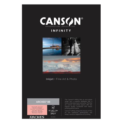 Canson Infinity Arches 88 310gsm A3+ 25 Sheets