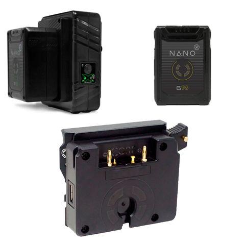 Core SWX RED Komodo BP Mount To AB-Mount Plate 2 x Nano G 98 + Changer/Battery Bundle